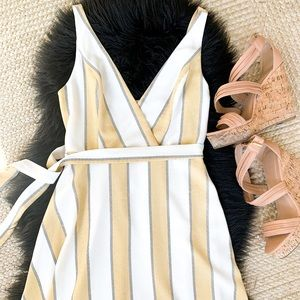 Yellow Striped Sun Dress